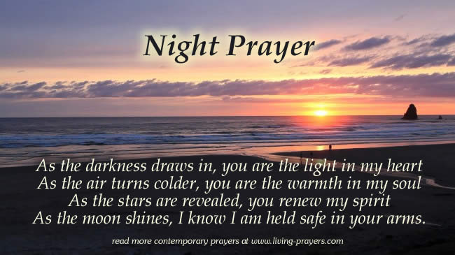 Short Night Time Prayer Goodnight Prayers